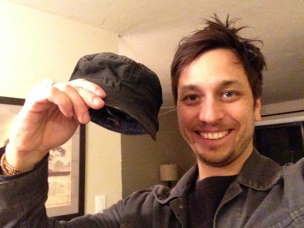 Jason Holding The Hat That Michael Traded