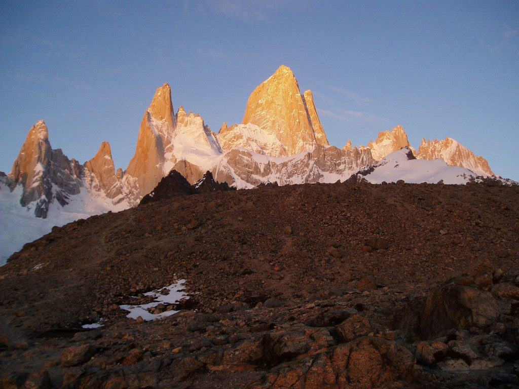 Trekking in Patagonia Sunrise on Fitz Roy