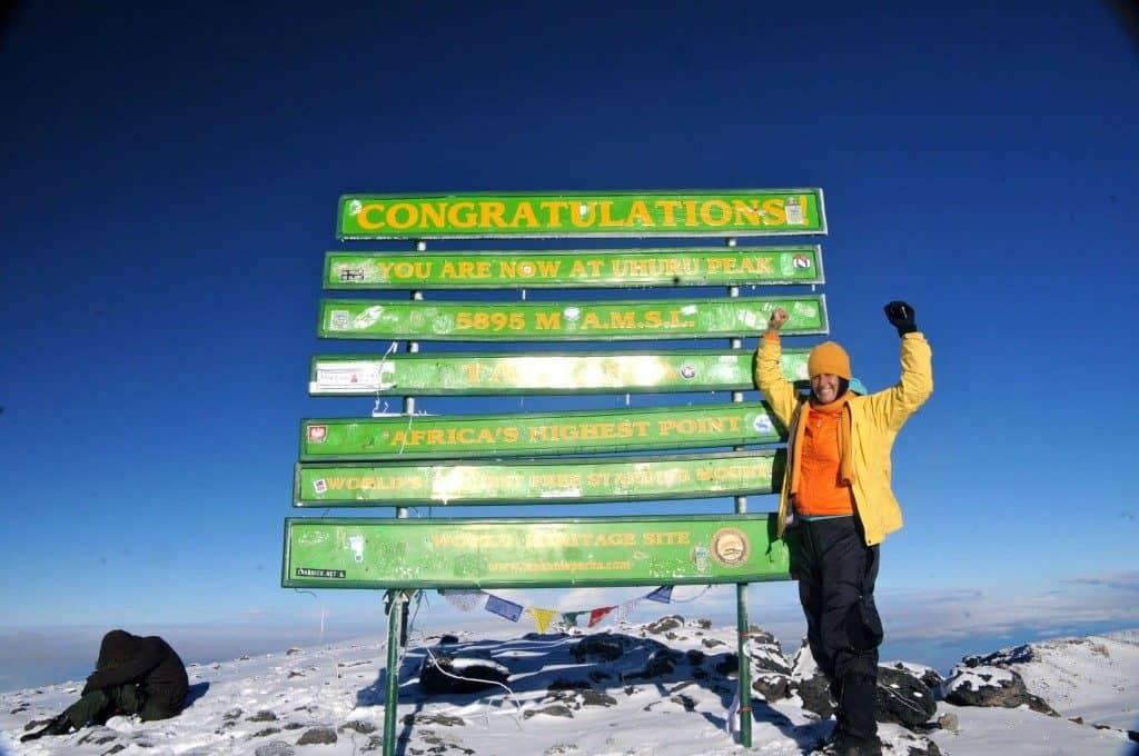 Best Treks In The World Stephanie Zito Summit of Mt. Kilimanjaro